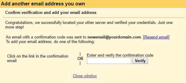 Add Address Confirmation