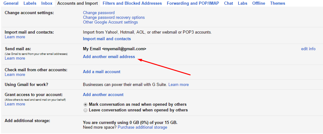 Gmail Add Another Address