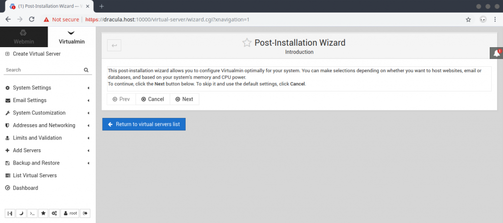 webmin_virtualmin_post_installation_wizard
